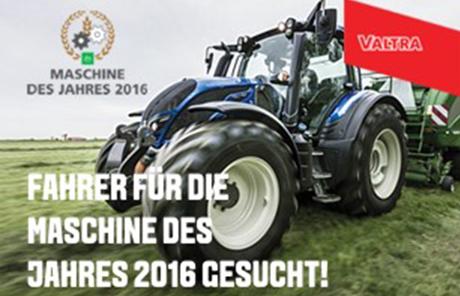 Fahrer für die Maschine der Jahres 2016 gesucht!