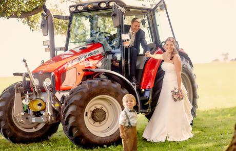 Massey Ferguson durfte bei der Hochzeit auch nicht fehlen!
