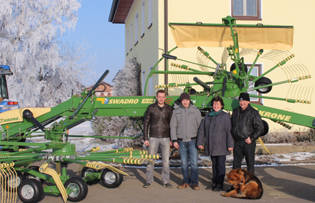 Krone TS 680 Twin Seitenschwader – Familie Zillner aus Mauerkirchen