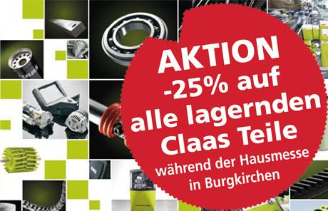 – 25% auf alle lagernden Claas Teile